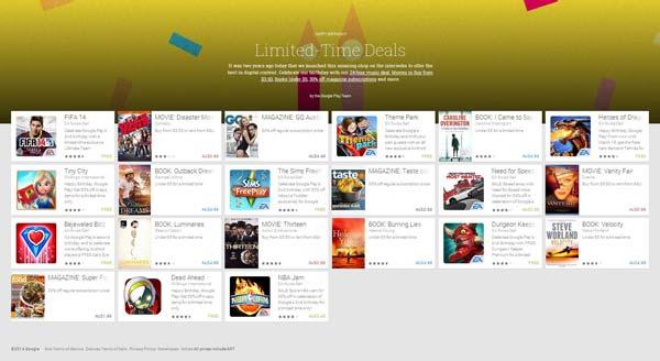 Promoción en la Google Play Store