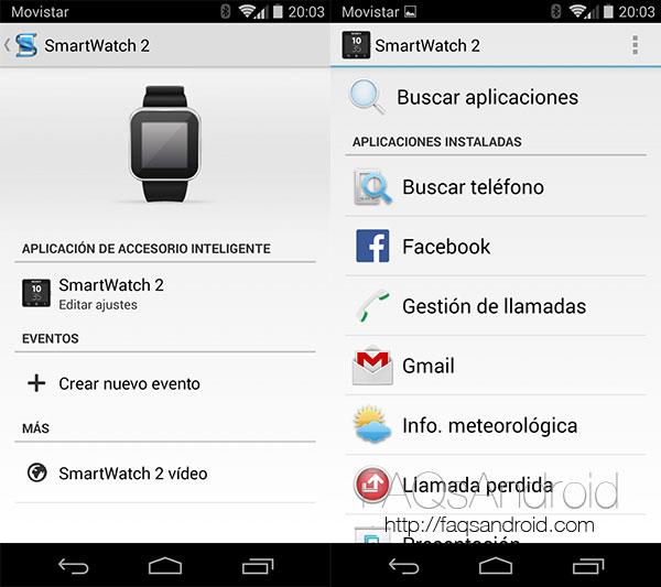Aplicaciones para el smartwatch