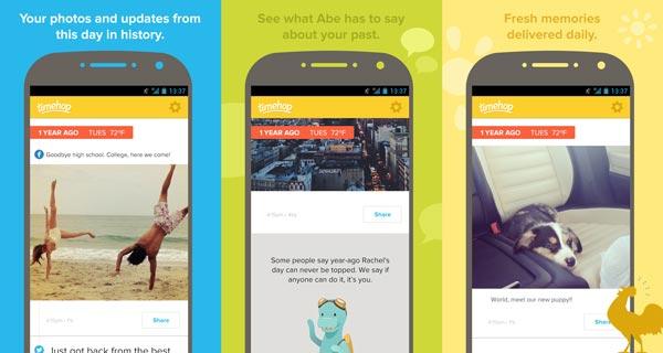 10 nuevas apps y juegos a tener en cuenta de esta semana: Timehop