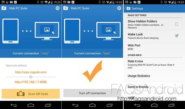 Web PC Suite, administra el contenido de tu Android desde el ordenador o la tablet