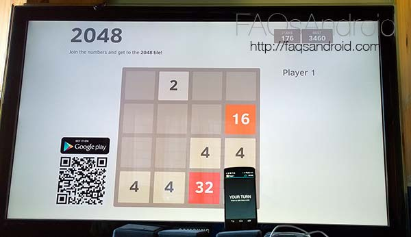 Juega a 2048 en la tele mediante el Chromecast