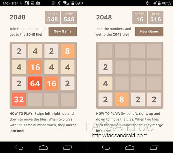2048 es el nuevo juego android de moda