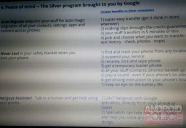 Rumor: Android Silver, una posible élite de cinco dispositivos con servicio premium