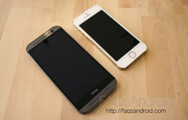 Comparativa del HTC One M8 vs iPhone 5S en vídeo