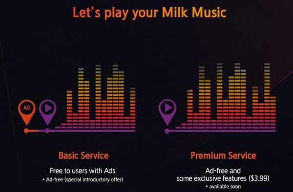 Samsung Milk Music tendrá una opción Premium a 4 dólares al mes