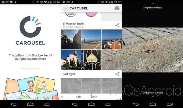 Dropbox lanza carousel, una app para organizar las fotos subidas a la nube