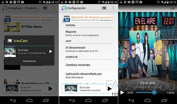 Casteando, visualiza los programas de televisión españoles en el Chromecast