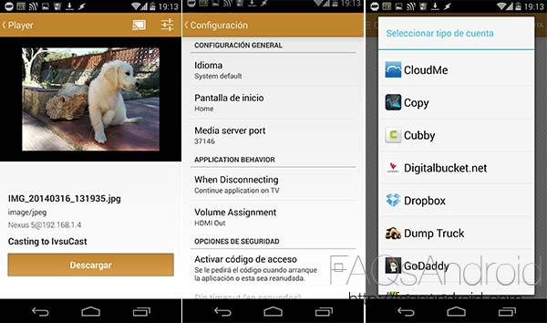 CloudCaster, gran rival de AllCast en el envío de fotos y vídeo al Chromecast