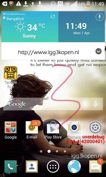 Primera imagen filtrada del posible LG G3