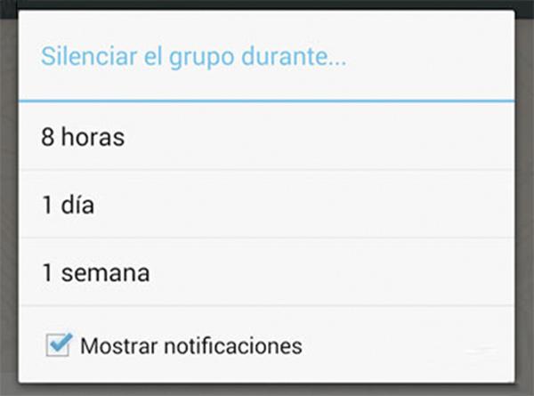 WhatsApp para android te deja quitar las notificaciones de los grupos