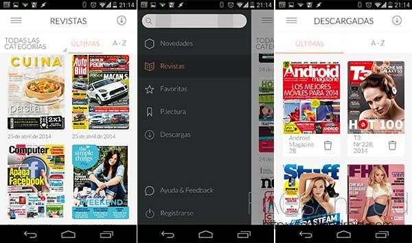 Barra libre de revistas a lo Spotify con Ztory para Android