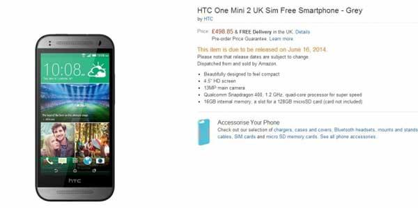 Amazon confirma la fecha de lanzamiento del HTC One Mini 2