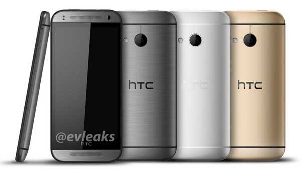 El HTC One Mini 2, como su hermano mayor: gris oscuro, gris plata y dorado