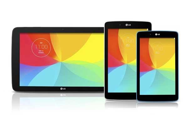 La renovación de los LG G Pad llegará con tres modelos de 7, 8 y 10 pulgadas