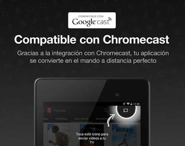 Wuaki.tv añade soporte para Chromecast en su aplicación Android