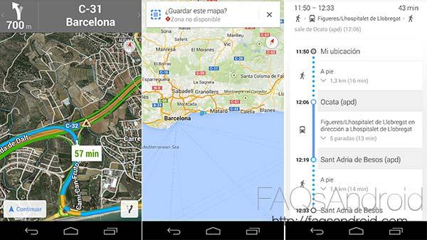 Google Maps sube hasta la versión 8.0 actualizándose con novedades