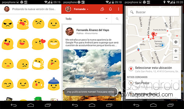Analizamos la nueva interfaz de Google Plus para Android en vídeo