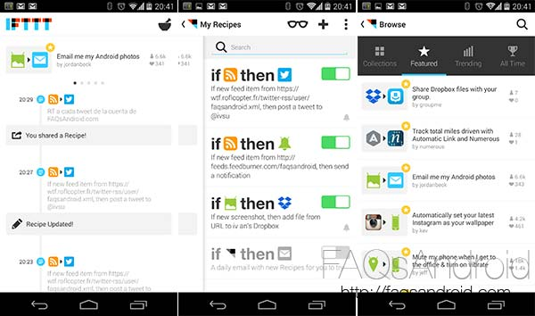 IFTTT para Android, gestiones automatizadas con infinito nivel de posibilidades