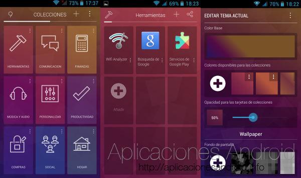 9 cards es el launcher Android de moda
