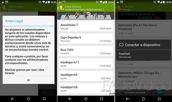 Partidos en el móvil gracias a Libre Directa. ¡Y es compatible con google Chromecast!