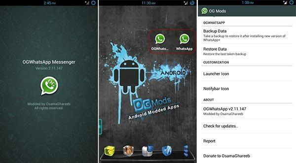 Mantén dos cuentas de WhatsApp simultáneas con OGWhatsApp