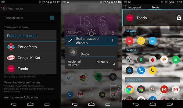 Packs de iconos y launchers Android que los soportan