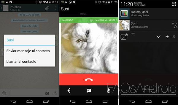 WhatsApp nos deja ver su función de llamadas en la última versión