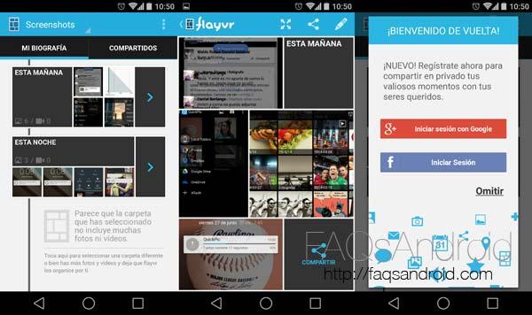 Flayvr, Las mejores alternativas a la galería de imágenes para Android L