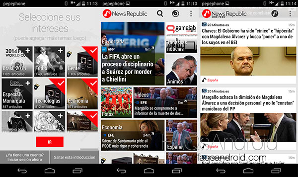 Analizamos News Republic, la app android para mantenerte informado