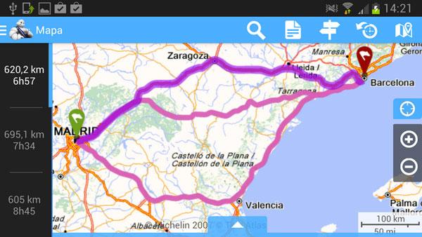 Via Michelin: Rutas, itinerarios y mapas de carretera