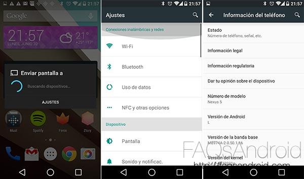 Cómo instalar Android L en un Nexus 5 o Nexus 7. ¡Con vídeo!