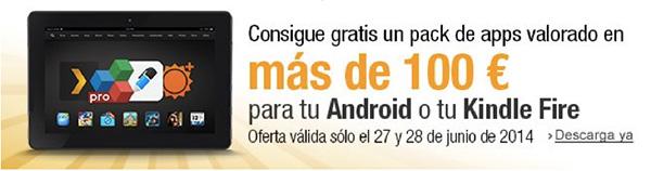 100 euros gratis en aplicaciones android desde el Amazon AppStore