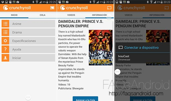 Cinco nuevas aplicaciones compatibles con el Google Chromecast: Chrunchyroll