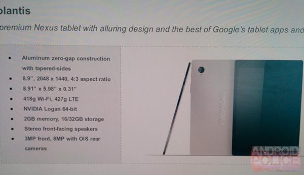 Se filtra la imagen y características del Nexus 9 de HTC