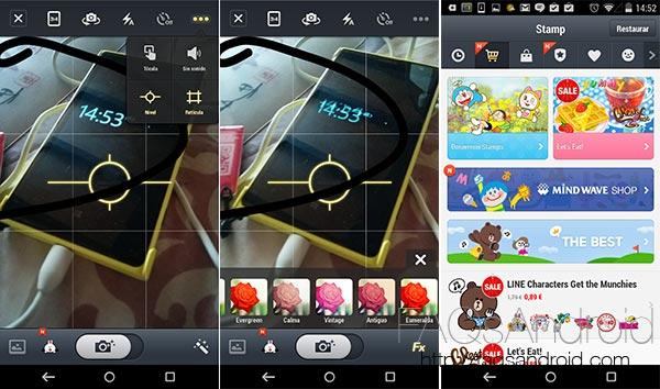 Cinco alternativas a la aplicación de cámara de tu móvil: Line Camera