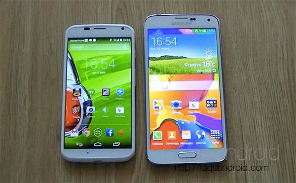 Comparamos el Samsung Galaxy S5 vs Motorola Moto X en vídeo