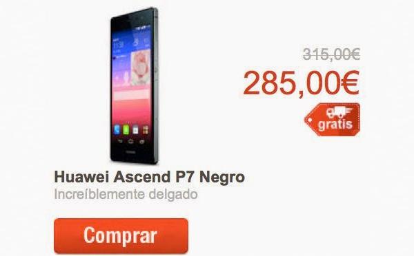 Huawei Ascend P7 o un android tope de gama 2014 por 300 euros