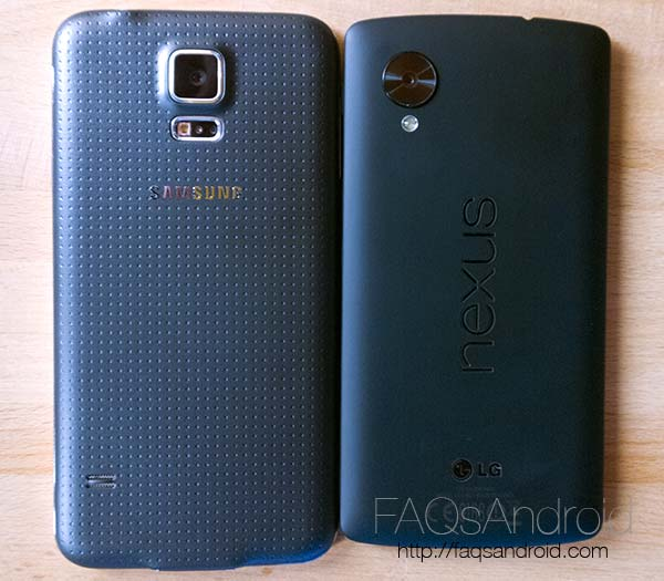 Comparativa entre el Samsung Galaxy S5 vs Nexus 5 con vídeo review