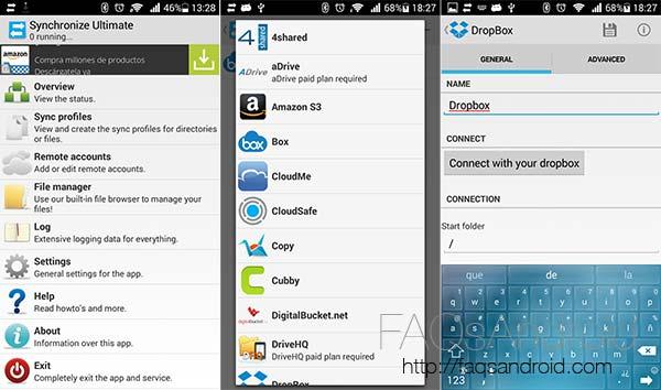 Synchronize Ultimate, tus cuentas en la nube sincronizadas desde una sola app