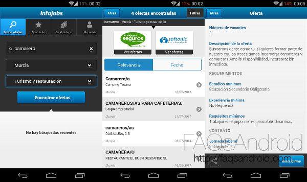 Las 3 mejores apps para buscar empleo desde Android: InfoJobs