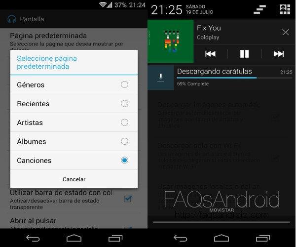 Shuttle, el mejor reproductor de música para Android