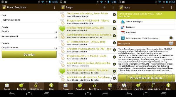 Las 3 mejores apps para buscar empleo desde Android: Jobeeper