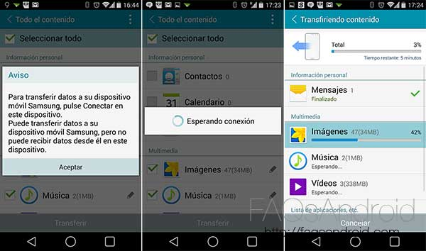 Cómo migrar el contenido de tu móvil Android o iPhone a un Samsung Galaxy
