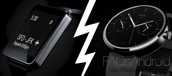 Comparativa de smartwatch con Android Wear: G Watch, Gear Live, Moto 360, G Watch R