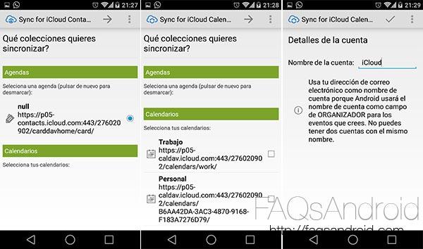 Cómo importar los contactos y los calendarios desde iCloud en iPhone a Android