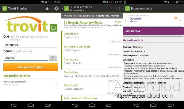 Las 3 mejores apps para buscar empleo desde Android: Trovt Empleo