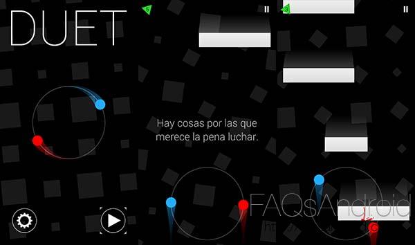 Duet, un juego Android de naves con el que probar la habilidad y sincronización