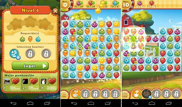 Juegos de granja en Android: Farm Heroes Saga