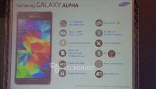 Filtración Samsung Galaxy Alpha
