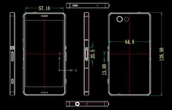 Filtrados los planos y medidas del Sony Xperia Z3 Compact